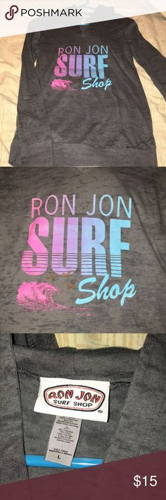 Juniors Ron Jon Surf Shop Light Sweatshirt 10/10 condition. Light and Thin sweatshirt. Can be worn alone or on top of outfit. Tops Sweatshirts & Hoodies
