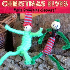 Christmas Elves made from pipe cleaners | Craft Invaders These Christmas Elves made from pipe cleaners are super simple and quick to make, and great fun to play with