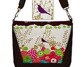 CLEARANCE Digital SLR Camera Bag Dslr Camera Bag Purse Womens Camera Bag Case Padded Kokka Bird purple pink brown (RTS)