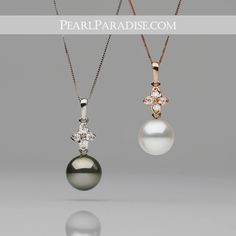 """Introducing our NEW """"Violet Collection"""" Pearl & Diamond Pendant!   30% off for one week only!"""