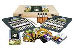 Bach Flower Remedy Complete Kit in Wooden Case. 40 Quality Essences, Pack 30 Divination Cards Free Pen, 4 x Dosage Bottles. Premium Gift Set Box. by Creature Comforters ** Check out the image by visiting the link.