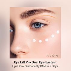 ANEW CLINICAL EYE LIFT PRO DUAL EYE SYSTEM: Two-in-one system for a complete eye lift and for anyone wishing to help treat or prevent the telltale signs of aging. #Anew #Avon #skincare