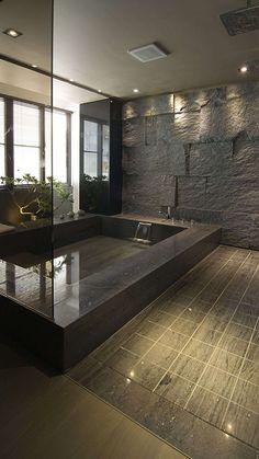Dream bathrooms 682858362230026988 - 33 Wondrous Japanese Bathroom Ideas Source by Dream Home Design, Modern House Design, Home Interior Design, Stone Interior, Interior Livingroom, Luxury Homes Interior, Bathroom Window Treatments, Bathroom Windows, Bathroom Mirrors