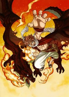 Brilliant Natsu fan art from the anime Fairy Tail http://anime.about.com/od/fairytail/