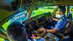 Air Mauritius: Boeing 747 at Plaisance Airport, Mauritius. Depicting ...