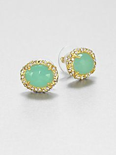 Alexis Bittar - Chalcedony Button Earrings