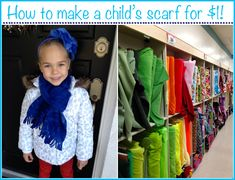 Tiny Oranges - Fresh, fun blog for OC moms - How to Make a Child's Scarf for Cheap!