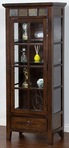 Shop for the Sunny Designs Santa Fe Curio Cabinet at Fashion Furniture - Your Fresno, Madera Furniture & Mattress Store Curio, Glass Curio Cabinets, Cabinet, Memorial Day Furniture Sales, Cabinets For Sale, Cabinet Decor, Crockery Cabinet, Crockery Unit, Glass Cabinets Display