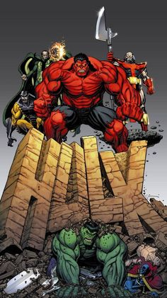 Alternative cover for Hulk Marvel Comics Superheroes, Hulk Marvel, Marvel Comic Books, Comic Book Heroes, Comic Books Art, Arte Do Hulk, Comic Art Community, Red Hulk, Hulk Smash
