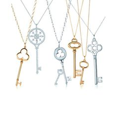 How cute are these key necklaces from Tiffany & Co.?