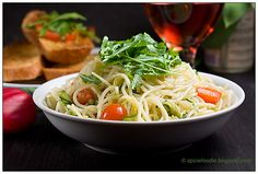 Spicy Spaghetti with Grated Zucchini