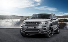 Télécharger fonds d'écran Land Rover, le Discovery Sport, Startech, le Réglage de la Découverte, de l'argent Land Rover, crossover