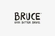 Logo for Australian, 100% raw, cold pressed juice brand Bruce Juice by New Zealand graphic design studio Marx