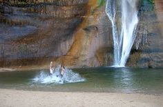 Lower Calf Creek Falls is listed as one of America's Best Swimming Holes on travel.yahoo.com!
