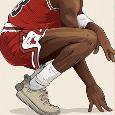 Michael Jordan x Yeezy Illustration add my IG: ii_tired_ii Arte Do Hip Hop, Hip Hop Art, Nba Wallpapers, Animes Wallpapers, Michael Jordan Art, Comics Vintage, Vintage Art, Art Noir, Handy Wallpaper