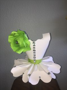 Paper Princess dress center piece