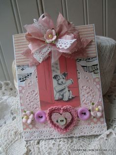 vintage TERRIER card-ALL OCCASION handmade by cherrysjubileecards