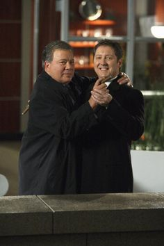 Love LOVE this serie!!!!! Still of William Shatner and James Spader in Boston Legal (2004)