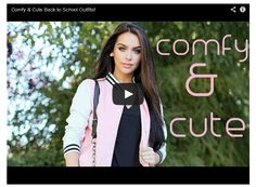 Thumbs up for more Fashion Videos!! Comfy & Cute Back To School Outfits! | Cafe' Pink