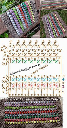 Crochet Gorgeous Stitch - Chart ❥ 4U hilariafina  http://www.pinterest.com/hilariafina/