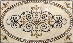 Arabesque Marble Rug Mosaic – Selma
