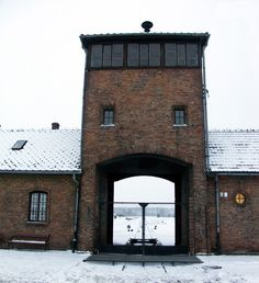 "The train entrance to Auschwitz-Birkenau concentration camp. This was the ""end of the line"" for over a million people."