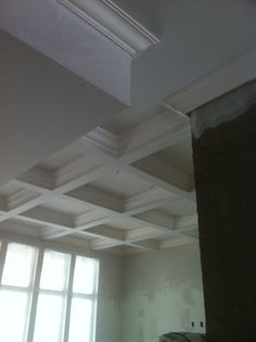 Custom Designed Plaster Crown Mouldings For Coffered Ceiling - Cornice crown moulding toronto wainscoting coffered ceiling