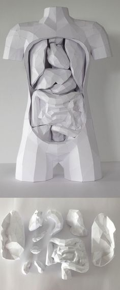 white paper sculpture