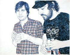 Hope Gangloff is a New-York based artist, doing acrylic paintings and awesome ink illustrations