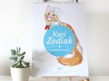 Koci Zodiak - Terakotowy Kalendarz 2015