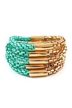 great bracelet turquoise and gold