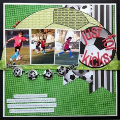 Love this soccer layout | Scrapbooking - Football, Sports | Pinterest