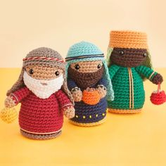 Free Knitting Patterns Christmas Crib : 1000+ images about amigurumis navidenos on Pinterest Amigurumi, Nativity an...