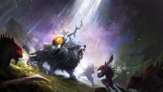 YASS LUNA YASS by theDURRRRIAN female cleric paladin sabertooth tiger rider knight sword shield demons holy light armor clothes clothing fashion player character npc | Create your own roleplaying game material w/ RPG Bard: www.rpgbard.com | Writing inspiration for Dungeons and Dragons DND D&D Pathfinder PFRPG Warhammer 40k Star Wars Shadowrun Call of Cthulhu Lord of the Rings LoTR + d20 fantasy science fiction scifi horror design | Not Trusty Sword art: click artwork for source