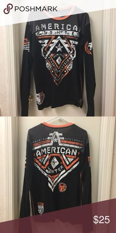 American fighter shirt EUC barely worn. No stains holes etc Shirts Tees - Long Sleeve