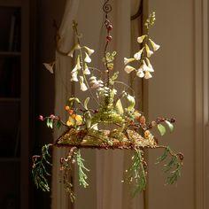 Beaded Chocker, Forest Floor, Small Leaf, Porcelain Clay, Suncatchers, Evergreen, Greenery, Glass Beads, Berries