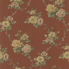 An elegant scroll design captured in a radiant red hue. Create a glamorous interior that stands the test of time with this regal wallpaper.