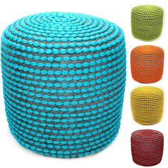 nuLOOM Handmade Casual Living Pouf | Overstock.com Shopping - Great Deals on Ottomans