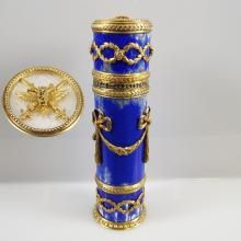 Russian Cigarillo Case: Gilt Silver, Enameled, & Jeweled, Hallmarked Fabergé, AH  4