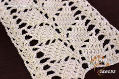 Ponto de Crochê Fantasia - 9 - Receita de Croche com o Passo a Passo no Link http://www.aprendendocroche.com/receitas-de-croche/video-aula.asp?resid=1555&tree=2