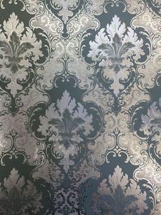 89537 Flowery Wallpaper, Damask Wallpaper, Glitter Wallpaper, Home Wallpaper, Wallpaper Backgrounds, Wallpaper Staircase, Classic Wallpaper, Wallpapers, Curtain Patterns