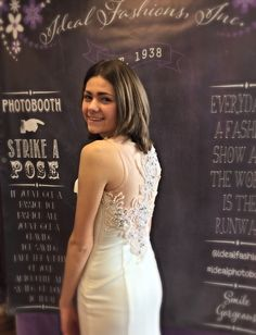 That back!!!  Julia looks awesome in this #tiffany gown! #pearls #prom #prom2k15 #idealfashions #idealphotobooth #itsallabouttheback #gorg #promdressshopping