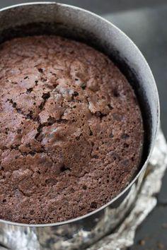 Gâteau au chocolat de type brownie