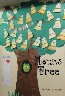 Teacher to the Core Nouns Art: Apples and also candy corns acorns, ghosts, candy canes, snowflakes, and cherries all focusing on nouns. Cute and Smart!