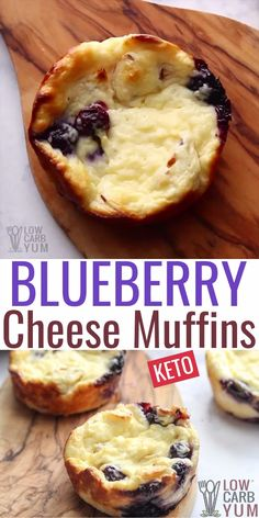 Blueberry Cream Cheese Muffins (Keto, Low Carb) With just 2 grams of net carbs each, these blueberry low carb muffins are just right. Enjoy them as keto breakfast muffins are an easy keto dessert. Dessert Simple, Keto Dessert Easy, Desserts Keto, Keto Snacks, Dessert Recipes, Recipes Dinner, Holiday Desserts, Blueberry Breakfast Recipes, Lunch Recipes