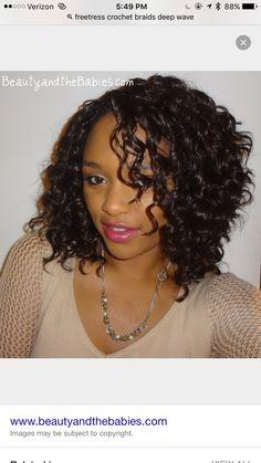 Crochet Braids with Freetress Natural Twist in color 1B/33. www ...