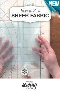 Essential tips for sewing sheer fabrics >> www.nationalsewingcircle.com/video/how-to-sew-sheer-fabric
