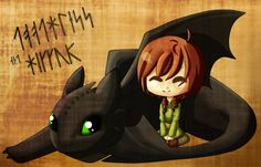 Toothless and Hiccup by afraea.deviantart.com on @deviantART
