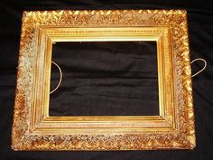 Georgian Picture frame, gold gilt on gesso on Pine wood. Good Condition