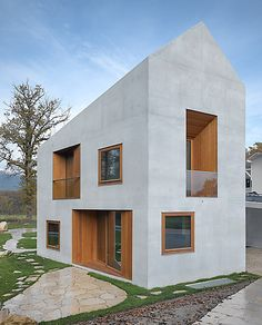 The larger-than-it-looks double house, Geneva, by Clavienrossier Architectes